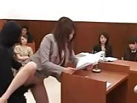 Japanese attorney fucked during the judgement