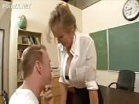 Vicious teacher seduces a student's father