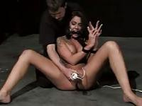 Humiliating a bound and gagged slut