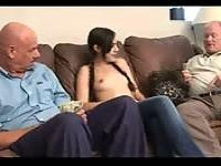 Sasha Grey fucks two grandpas