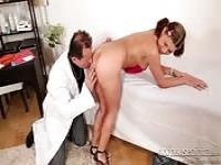 Young girl gets anal fucked by the doctor