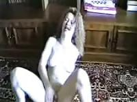 80s amateur couple filming homemade porn
