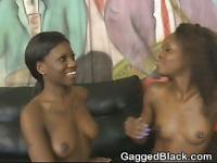 Hot Black Girls Getting Face Fucked Together In Threesome