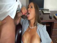 Mature secretary fucks her boss