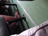 girl girl feet on bus (random)