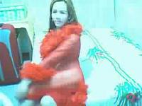 TS in Red On Webcam