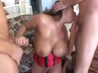 Ava Devine Pounded and Creamed by Two Thick Cocks