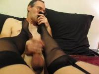Dirty Talking Stocking Feet Licking Fun