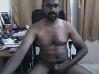 Indian rubs his johnson on webcam and cums in his hand