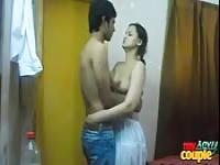 Indian couple undress