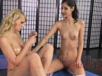 Mika Mika and CocoKiss from www.strip-cam.org Double-Dildo-Sport HD video