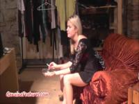 Mature blonde on a hidden camera