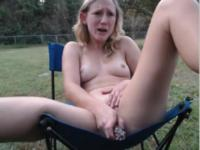 A geyser from her pussy into the open air