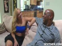 AJ Applegate Blowing and Nailed by Nice Black Cock