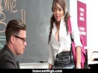 InnocentHigh - Busty Teachers Assistant Gets Pounded