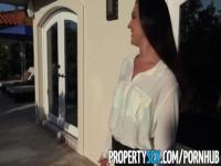 PropertySex - Real estate agent busted watching porn movies gets horny