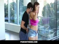PunishTeens - Keisha Grey gets Handcuffed and Fucked
