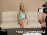 Tiny tit teen first hardcore casting shoot