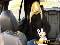 FakeTaxi Blonde with glasses gets talked into sex tape
