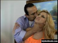 Cute blonde Vivian West gets her pussy pounded hard by a dude. First