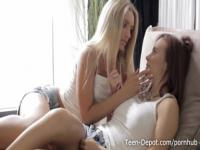 Kimberly and Catania pussy eating