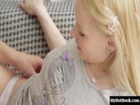 Angeliclooking slender 18yearold blonde, Lola Taylor, gets it on with her boyfriend, who