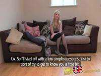 FakeAgentUK exclusive Satine Spark in original casting couch UK video