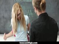 InnocentHigh - Innocent Schoolgirl Fucks For Extra Credit