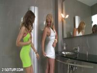Girls in the bathroom