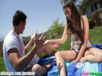 AllieHaze Allie Haze's little picknick ends by fucking her best friend!