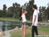 Hot Teen at Park Gets Picked Up And Fucked Hard and Deep