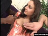 In this interracial, hardcore, MMF threesome, youll be watching the lovely, brunette slut