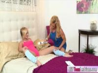 Kate England and Amanda Verhooks lesbian sex on the bed