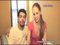Young couple private home video