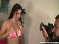 Bikini Girl Gives Photographer A Great Handjob