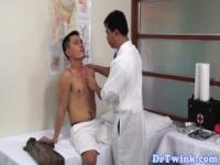 Asian doctor sucks patient while toying ass
