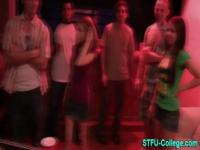 Teen party whore jizzed