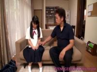 Japanese schoolgirls analplay with older dude