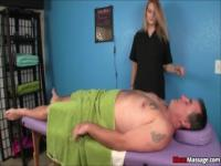 Mom and Daughter Punish Their Client With A Punishing Handjob
