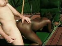 Outdoor interracial fucking