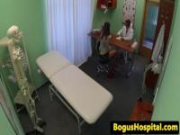 Amateur babe assfucked by doctor