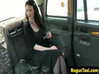 Emochick sucking cock pov in back of cab