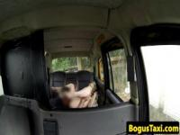 Taxi amateur fingered before sucking cabbie