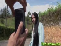 Real latina sucking cock