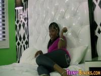 Perky black teen eats rod