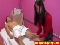 Smalltit asiansex masseuse tugs and sucks nob