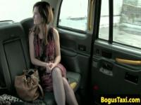 Eurobabe blows cab driver on parking lot
