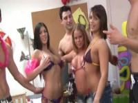 Young students penetrate on college party
