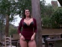 Babe Alison Tyler with hot round butt taking part in reality adult video in outdoor