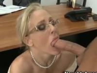 Milf with hot boobs is acting in blowjob sex video
